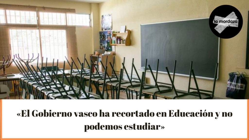 Los recortes en Educación del Gobierno vasco dejan sin estudios a una veintena de alumnos en Bizkaia
