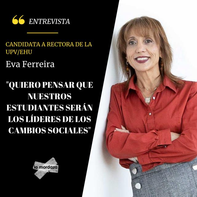 Eva Ferreira, candidata a rectora de la UPV/EHU